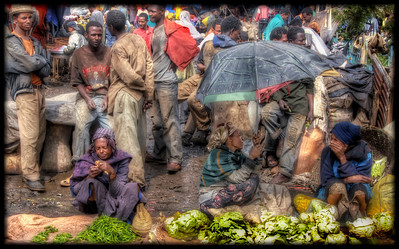 The Mercado open air market, Addis Ababa, Ethiopia - HDR.