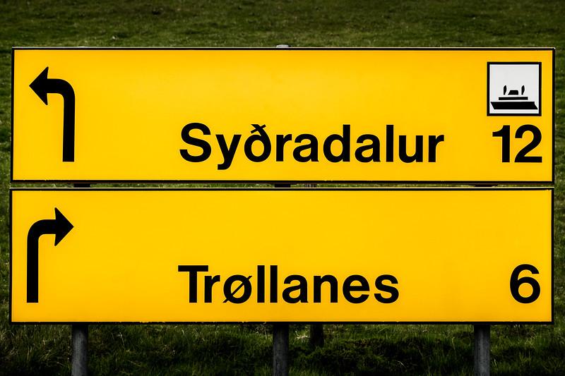 Faroe Island Sign