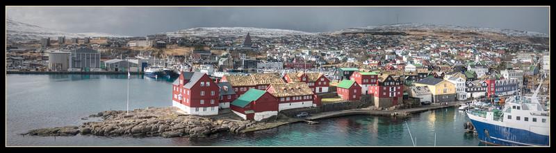 Panorama of Tinganes, Torshavn, Faroe Islands - HDR