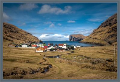 Village of Tjørnuvik, Streymoy, Faroe Islands