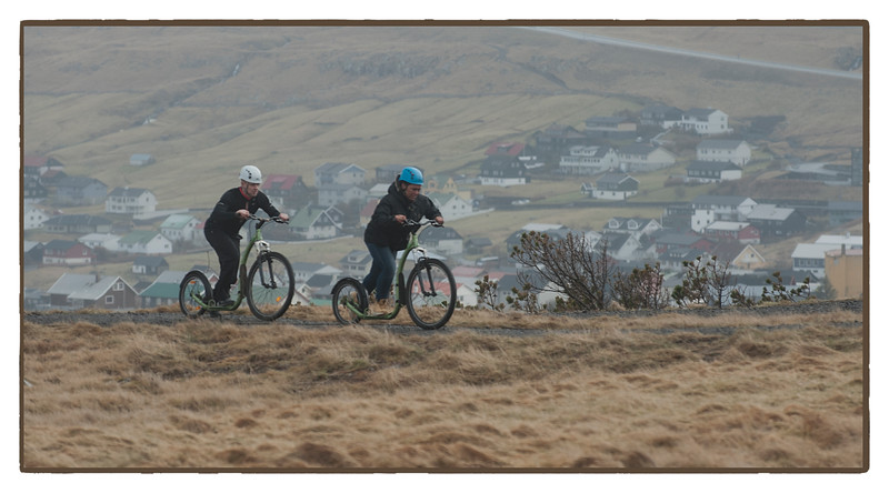 Cyclists, Faroe Islands