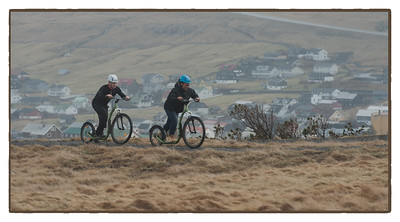 Cyclists, Faroe Islands