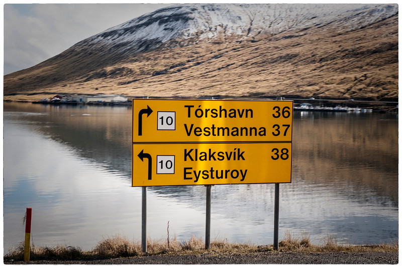 Road Sign, Faroe Islands