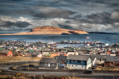Torshavn, Faroe Islands as an oil painting, 1 of 2