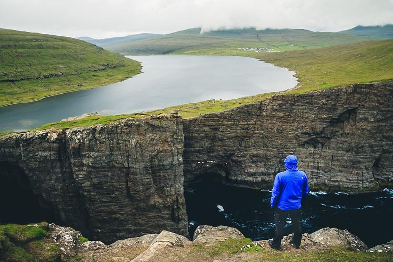 Overlooking Sørvágsvatn