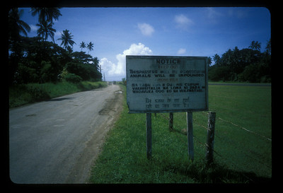 The airstrip at Vanua Levu, Fiji.