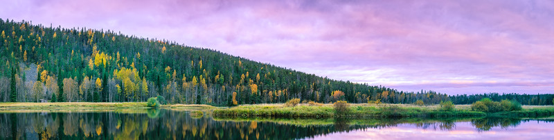 Panorama of the fall colors overlooking the Patoniva River.
