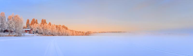 Foggy Winter Sunset