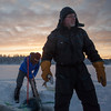 Fishing on the ice