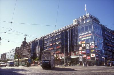 Mannerheimintie, main street, Helsinki, Finland and tram.