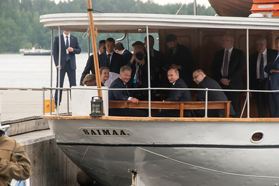 Presidents Niinistö of Finland and Putin of Russia in Savonlinna, Finland, 27 August, 2017.
