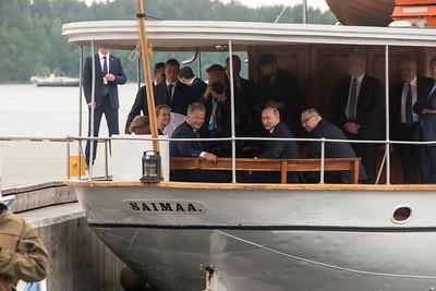 Presidents Niinistö of Finland and Putin of Russia in Savonlinna, Finland, 27 August, 2017.