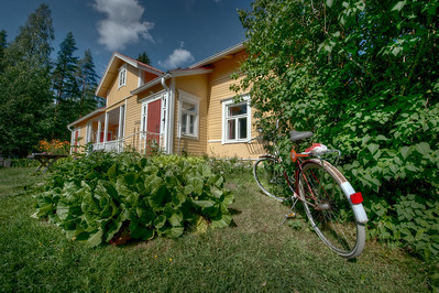 HDR: Farmhouse, rural Finland.