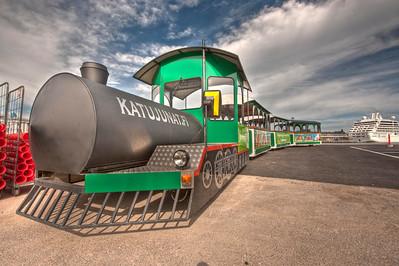 Toy Train on the Helsinki, Finland waterfront.