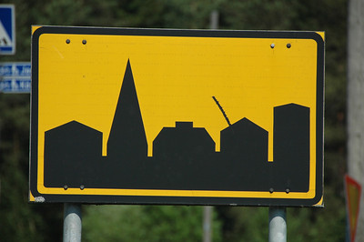 """City Limit"" sign, Finland."