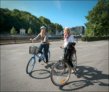 Cyclists, Turku, Finland.