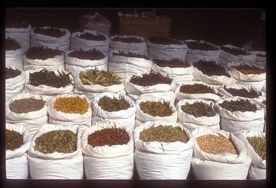 Spices in market, Ljubljana, Slovenia.