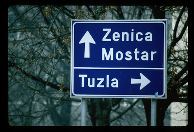 Road sign, Croatia.