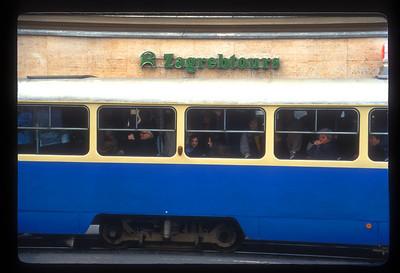 Tram in Zagreb, Croatia.