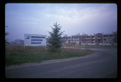 Sarajevo airport and war damage, circa 1997.