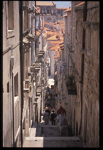 Stairway to old town section of Dubrovnik, Croatia.