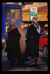Women in old Sarajevo town, Bosnia.