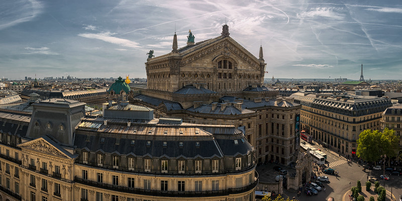 France, Paris, View from Lafayette store