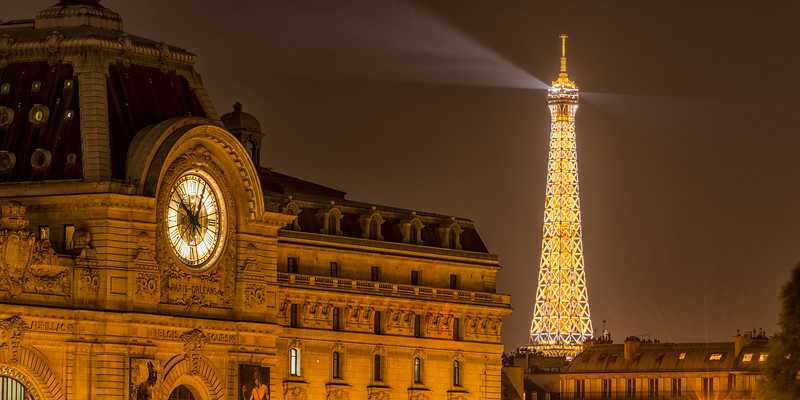 France, Paris, DOrsay and Eiffel