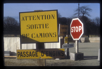 Traffic signs, Paris, France.