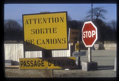 Traffic signs, Paris, France.