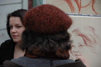 Portrait painter, Montmartre, Paris, France.