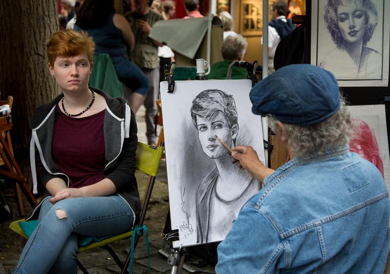 Artist at work, Montmartre, Paris