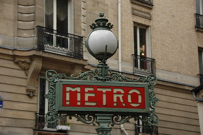 Metro stop, the Latin Quarter, Paris, France.