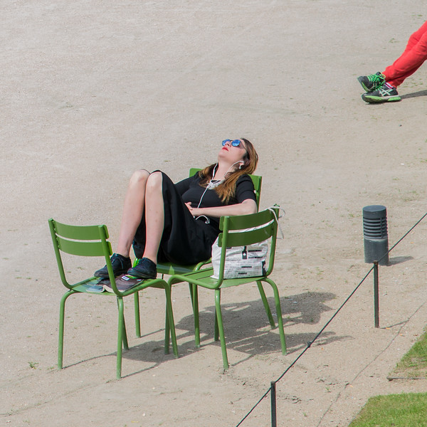 Relaxing in the Tuileries, Paris
