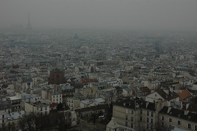 Paris, France from Montmartre.