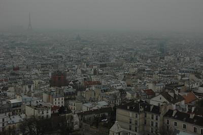 Paris, France from Montmartre.