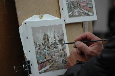 Painter, Montmartre, Paris, France.