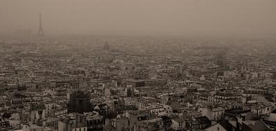 Paris from Montmartre, Paris, France.