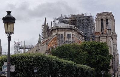 Notre Dame Cathedral, Paris, August 2019.