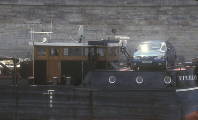 Barge on the Seine, Paris, France.