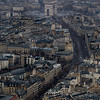 L'Arc de Triomphe, from the top of the Eiffel tower