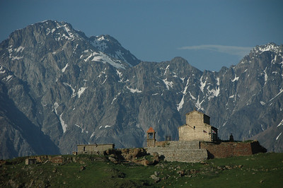 High Caucasus mountains along the Georgia Military Highway, Republic of Georgia.