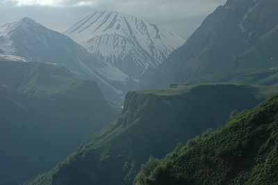The Caucasus mountains along the Georgia Military Highway, Republic of Georgia.