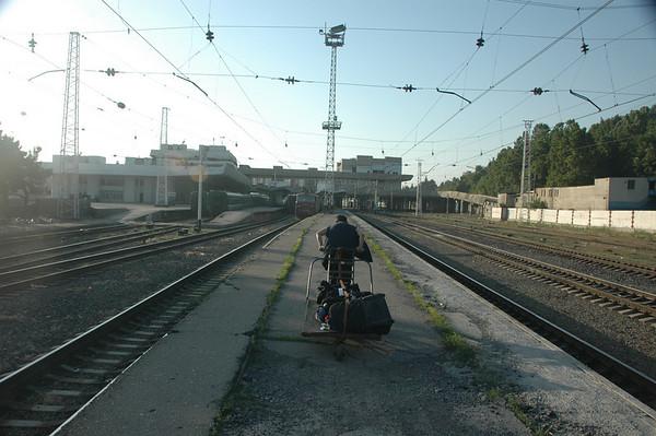 Porter at Tbilisi station, Republic of Georgia.