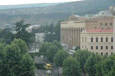 Parliament building, Tbilisi, Republic of Georgia.