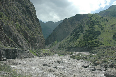 Terek (Tergi) River near Russian border, Caucasus region, Republic of Georgia.