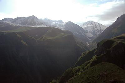 High Caucasus mountains from the Georgia Military Highway, Republic of Georgia.