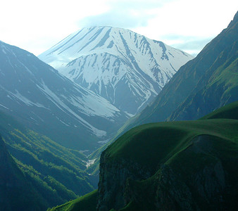 The Caucasus mountains from the Georgia Military Highway, Republic of Georgia.