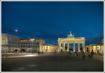 The Brandenburg Gate, Berlin, Germany.