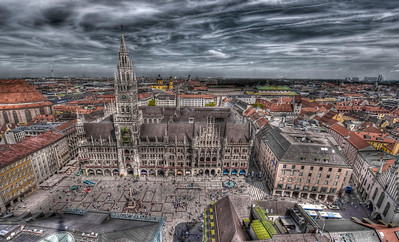 HDR: Rathaus, Munich, Germany.